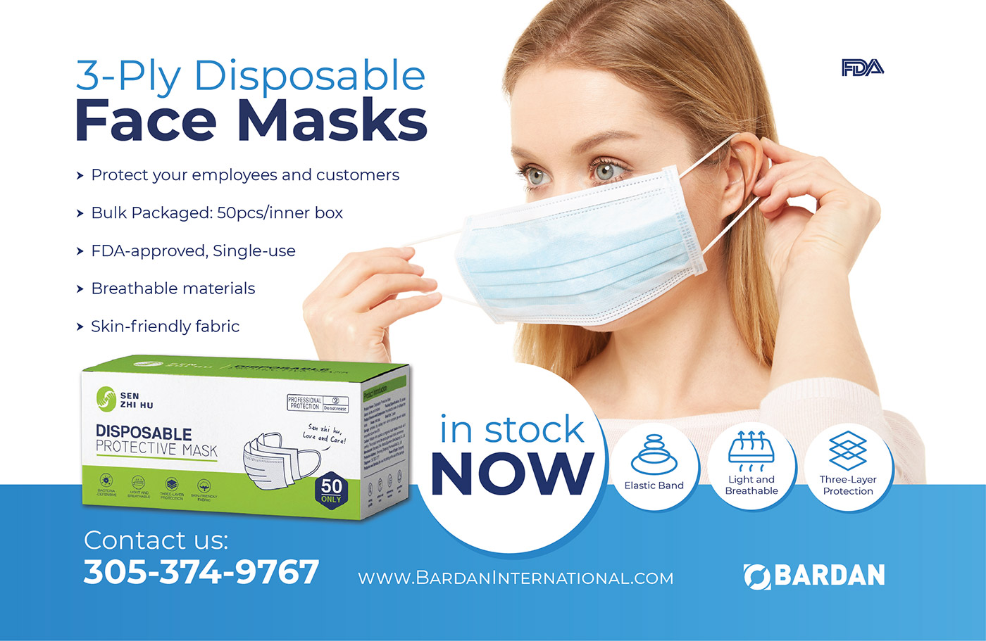 3-Ply Disposable Face Masks: Now in Stock