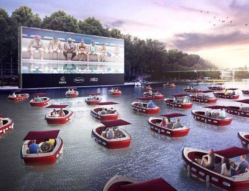 Cine flotante con botes permitiendo distanciamiento social que vienen a Miami